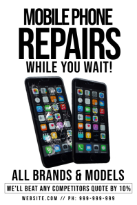 Mobile Phone Repair Poster template