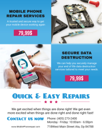 Mobile Phone Repair Service Shop Flyer Template