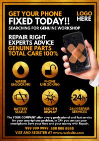Mobile Phone Repair Service Template A4