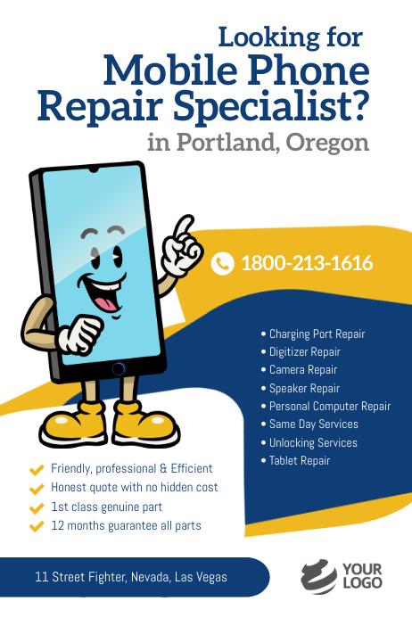 Mobile Phone Repair Specialist Flyer