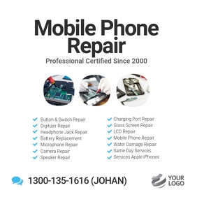 Mobile Phone Repair Specialist Flyer Instagram Post template