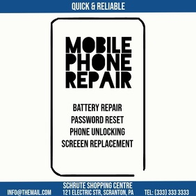 Mobile Phone Repair Video Ad Square (1:1) template
