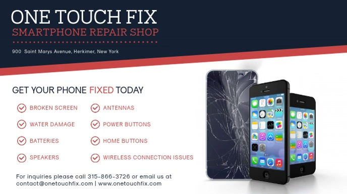 Mobile Repair Shop Digital Display Template