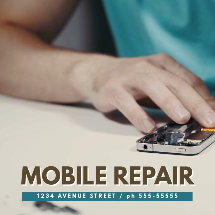 Mobile repair video template instagram Kvadrat (1:1)