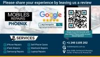 Mobile Review Card Tarjeta de Presentación template