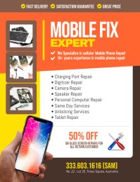 Cell Phone Repair Computer laptop tablet iphone android sign poster banner