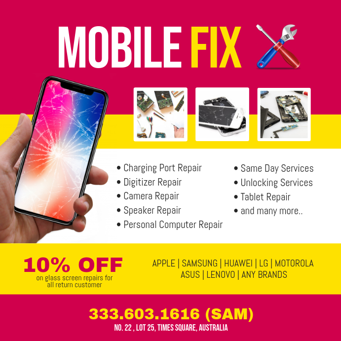 Mobile Smartphone Repair Instagram Post