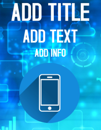 MOBILE TECH BACKGROUND Flyer (US Letter) template