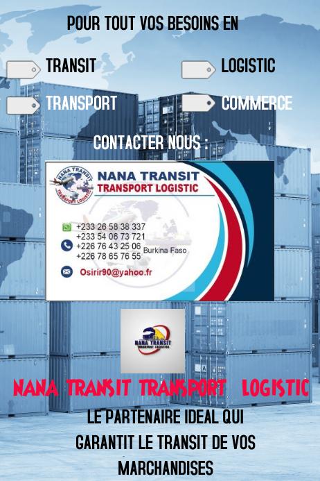modèle d'affiche de transit et transport