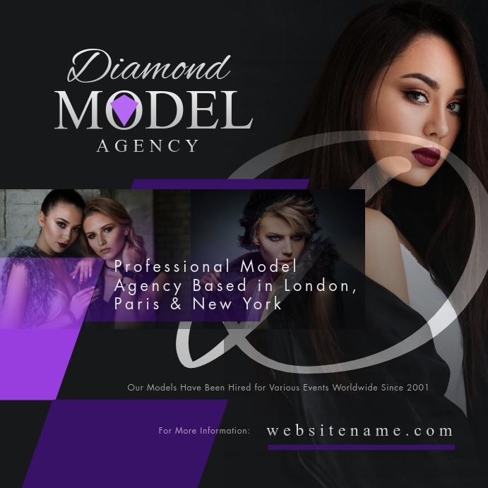 Model Agency Instagram Post template