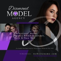 Model Agency Instagram Video Post Квадрат (1 : 1) template
