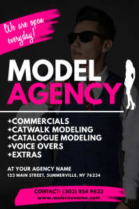 Model Agency Flyer
