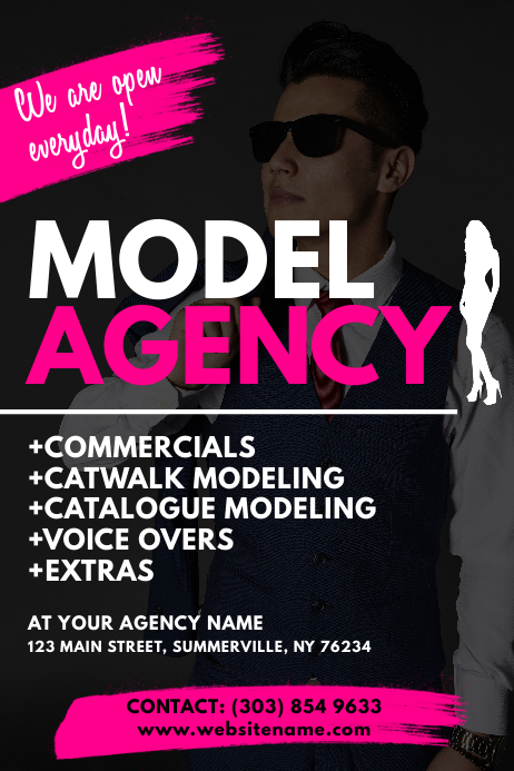 model agency flyer template postermywall