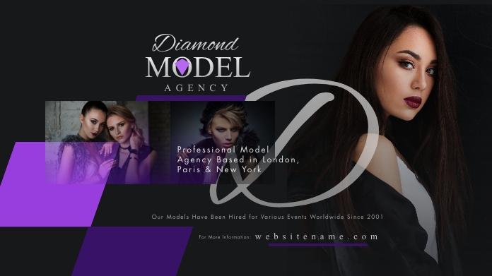 Model Agency Twitter Post template