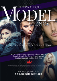 Model and Talent Agency A4 template