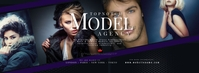 Model and Talent Agency Facebook Cover Photo Facebook-omslagfoto template