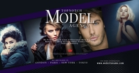 Model and Talent Agency Facebook Shared Image template