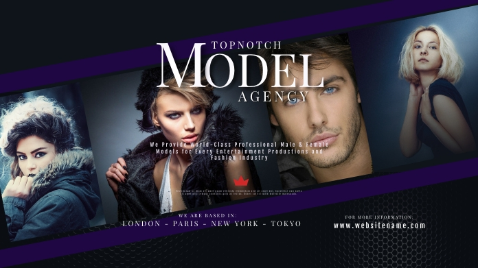 Model and Talent Agency Twitter Post template