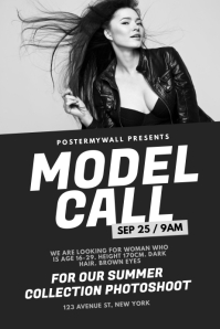 Model Casting Call Flyer Template