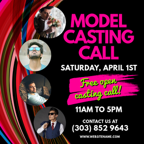 Customizable design templates for casting call postermywall model casting call pronofoot35fo Choice Image