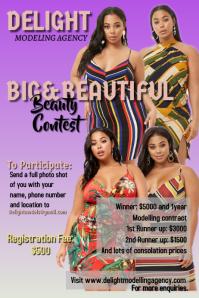 Model contest flyer