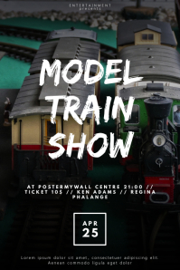 model Train show flyer design template