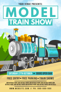 Model Train Show Poster