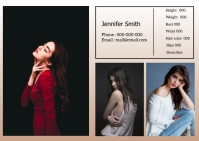 Modeling Comp card A6 template