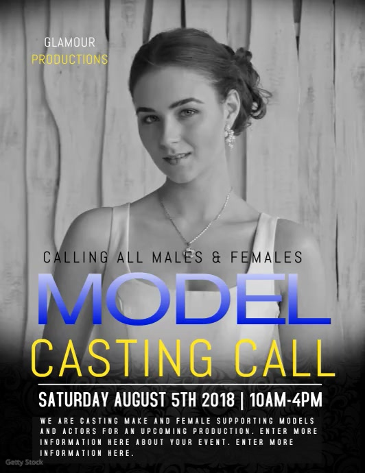 MODELS Flyer (Letter pang-US) template