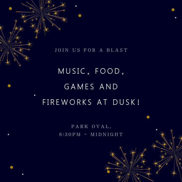 Modern 4th of July Invitation Instagram Post Template