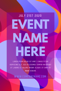 Modern Abstract Event Poster Template