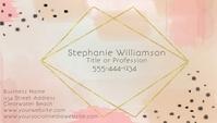 Modern Abstract Peach Gold Business Card Visitkort template
