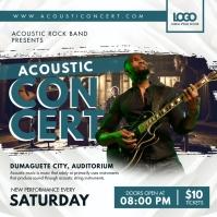 Modern Acoustic Concert Advert Instagram Post template
