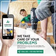 modern advertising handyman services instagra Instagram-Beitrag template