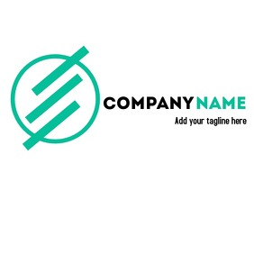 Modern alphanumeric E logo for businesses