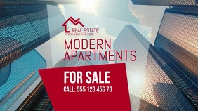 Modern Apartment Real Estate Video Template Affichage numérique (16:9)