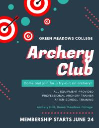 Modern Archery Club Poster
