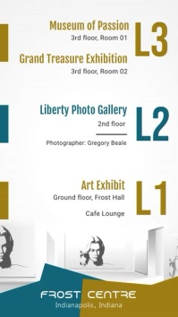 Modern Art Gallery Exhibition Digital Signage Template