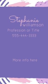 Modern Artistic Pink Purple Business Card Visitenkarte template