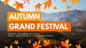 Modern Autumn Event Digital Display Video Ad