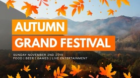 Modern Autumn Event Digital Display Video Ad