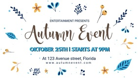 Modern Autumn Event Facebook Cover Video