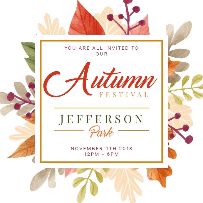 Modern Autumn Festival Square Ad Template