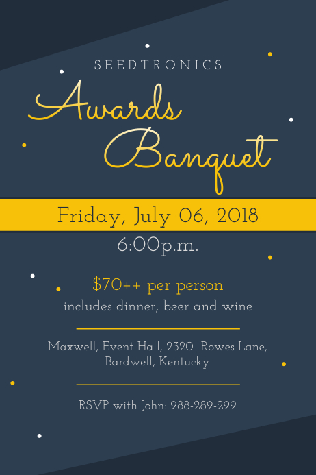 modern awards banquet invitation flyer template postermywall