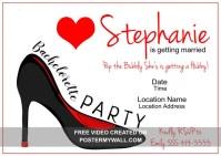 Modern Bachelorette Party Postcard template