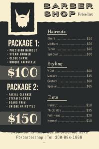 Modern Barber Shop Price List