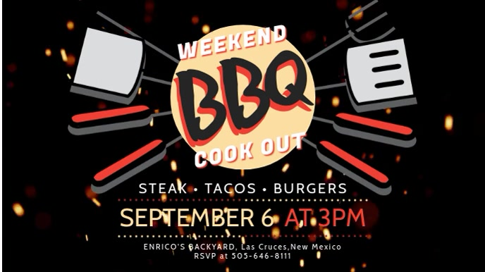 Modern BBQ Cookout Event Display Video Template