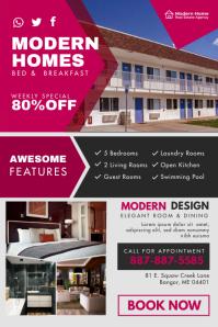 Modern Bed and Breakfast Inn Poster