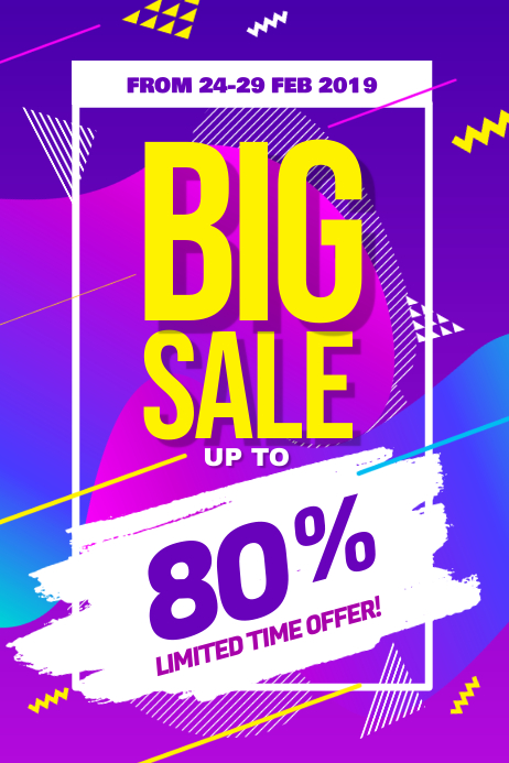 Modern Big Sale Discount Promotion Poster Flyer Template 海报