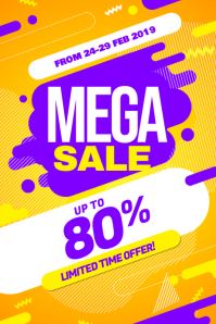 Modern Big Sale Discount Promotion Poster Flyer Template Iphosta